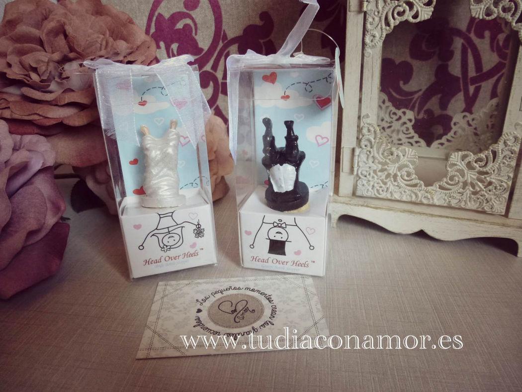 Detalles de boda divertidos y originales, corchos de novios