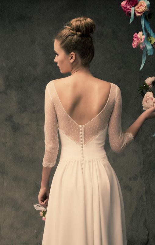 Robe de mariée longue Lambert Création