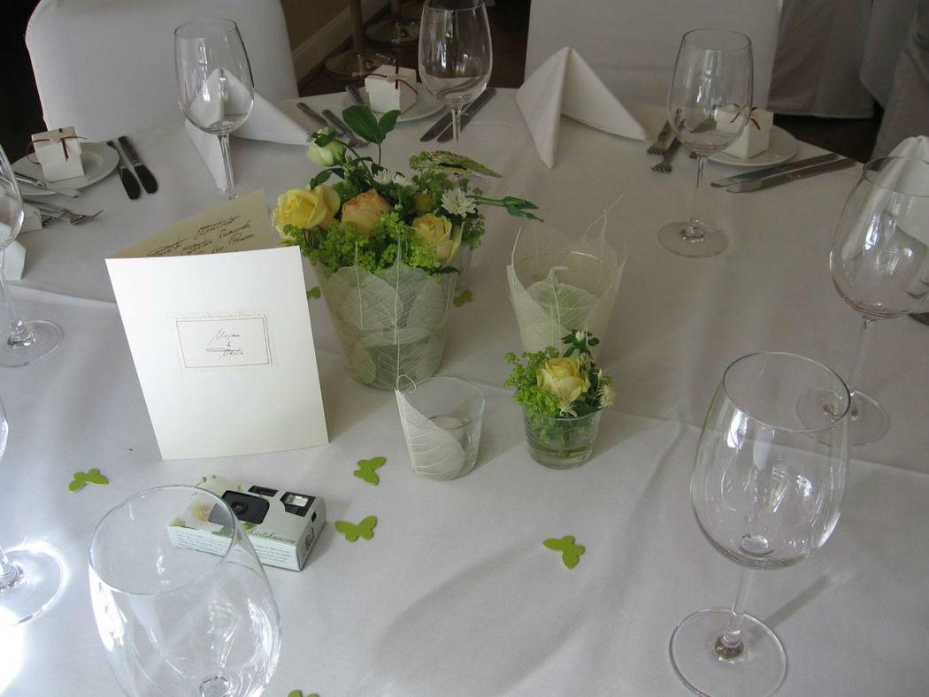 Beispiel: Floraler Schmuck, Foto: blumenwerkstatt frankfurt.