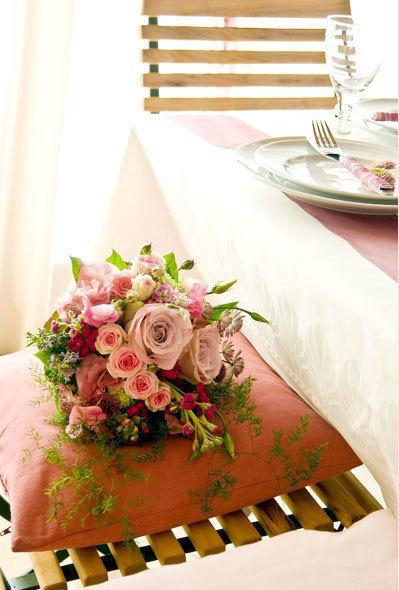 Beispiel: Gestaltung des Banketts, Foto: Einfach Blumen.