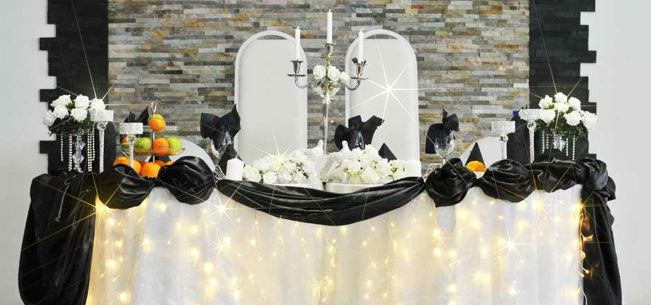 Beispiel: Brautpaartisch, Foto: Elite Event Center.