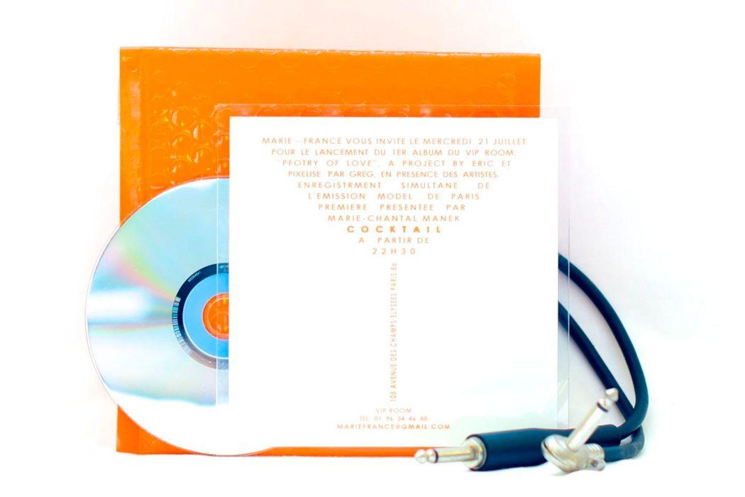Invitation cocktail Plexiglas 15cm/15cm