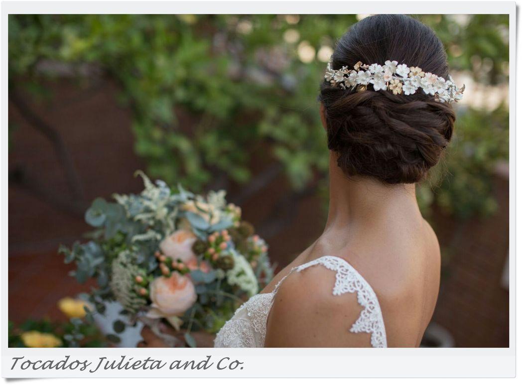 Coronas de porcelana para novia