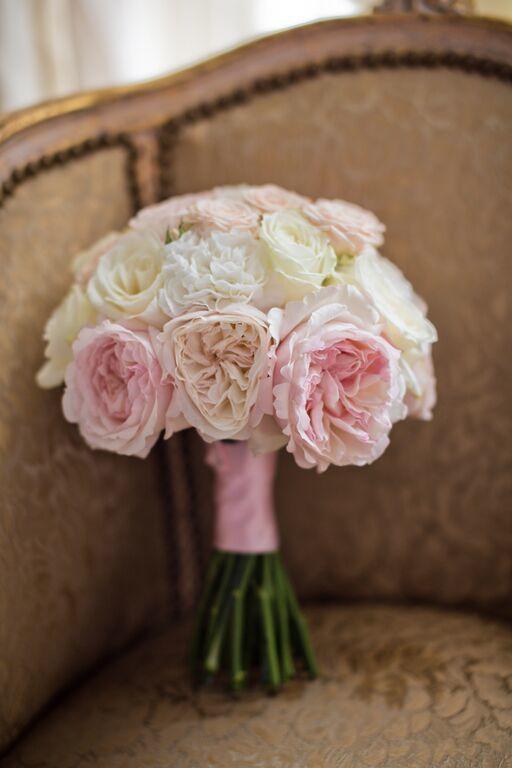Bouquet de mariée rose et blush