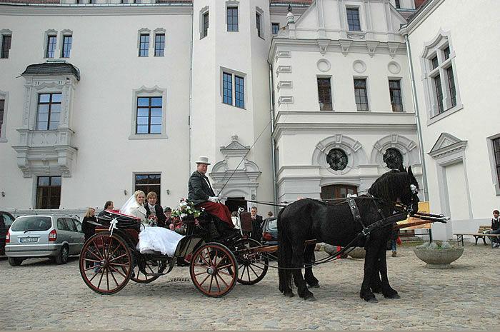 Beispiel: Hochzeitskutsche, Foto: Schloss Boitzenburg.
