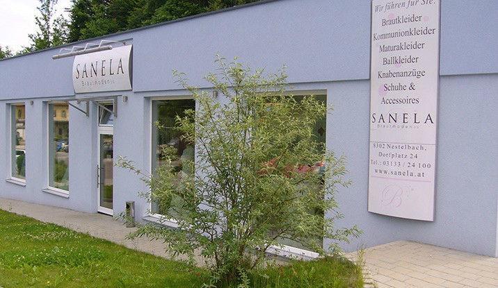 Beispiel: Geschäft, Foto: Sanela Brautmoden.