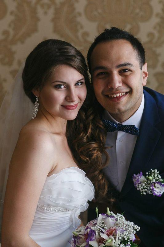 прекрасные Ольга и Армен *_* макияж и причёска для невесты- Нелли Шварц
