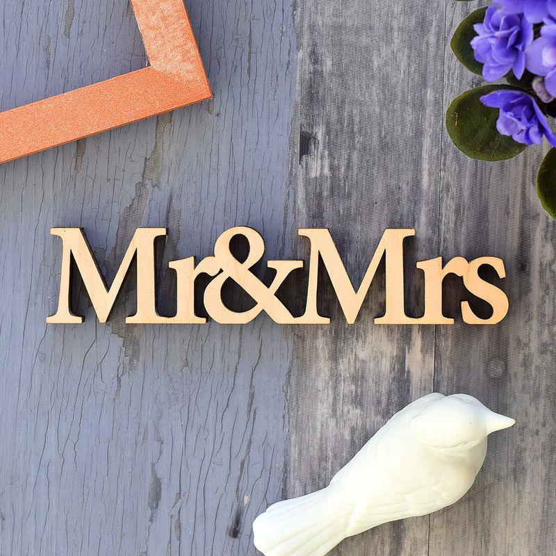 Mots en bois Mr & Mrs