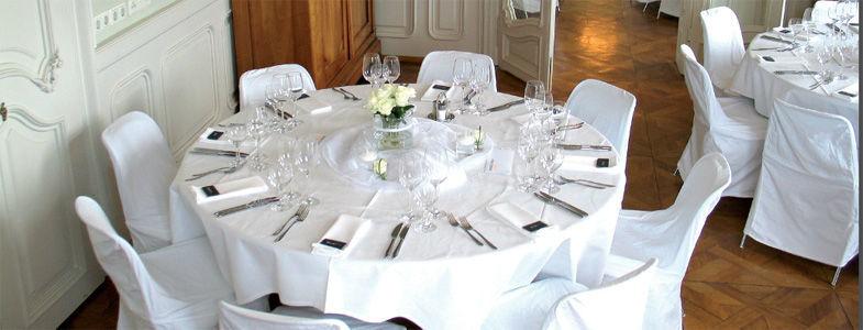 Beispiel: Hochzeitsgedeck, Foto: Villa Raczynski.