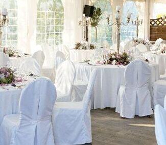 Beispiel: Hochzeitsgedeck, Foto: Beachclub Schleusenperle.