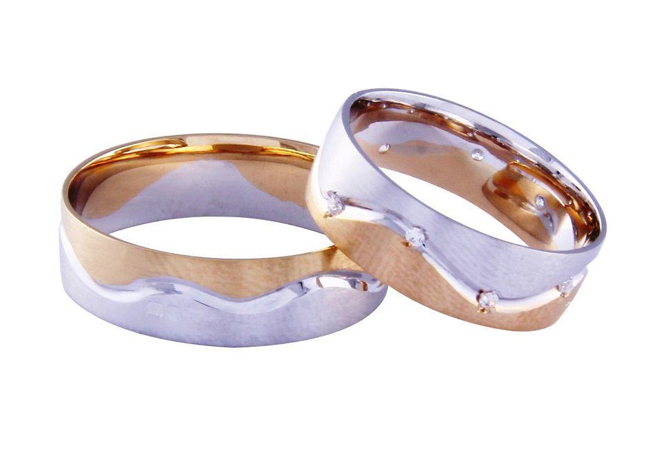 Alianças Casamento Bicolores ALBIC100