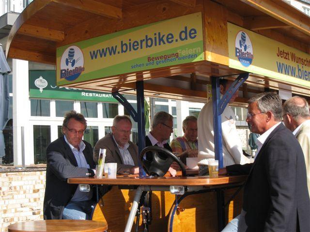Beispiel: Radtour mit Bierausschank, Foto: BierBike Braunschweig.