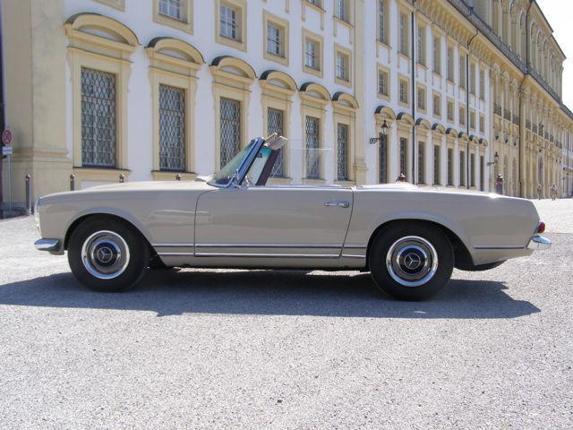 Ihr Hochzeitsauto zum Selberfahren: Mercedes Benz 230 SL Pagode (W113) Foto: Classic Roadster München