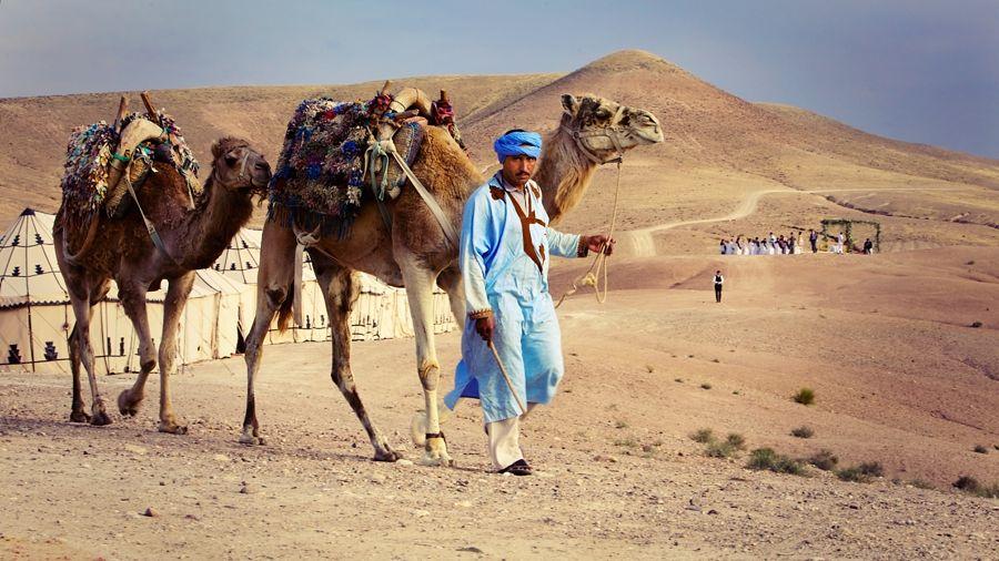 Mariage désert d'Agafay, Maroc par L'As de Coeur Photo + Cinéma Lieu : La Pause Cérémonie laïque