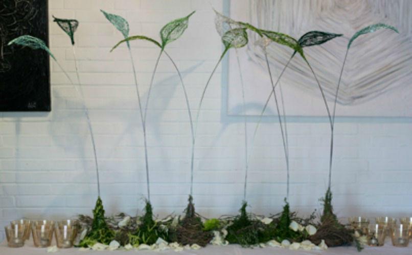 Beispiel: Tischdekoration, Foto: BlumenWerk.