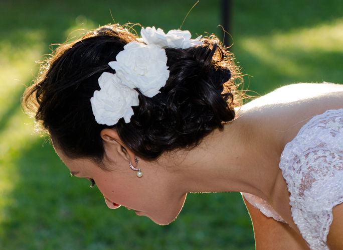 Flor de Cór - gardênias naturais preservadas para o cabelo