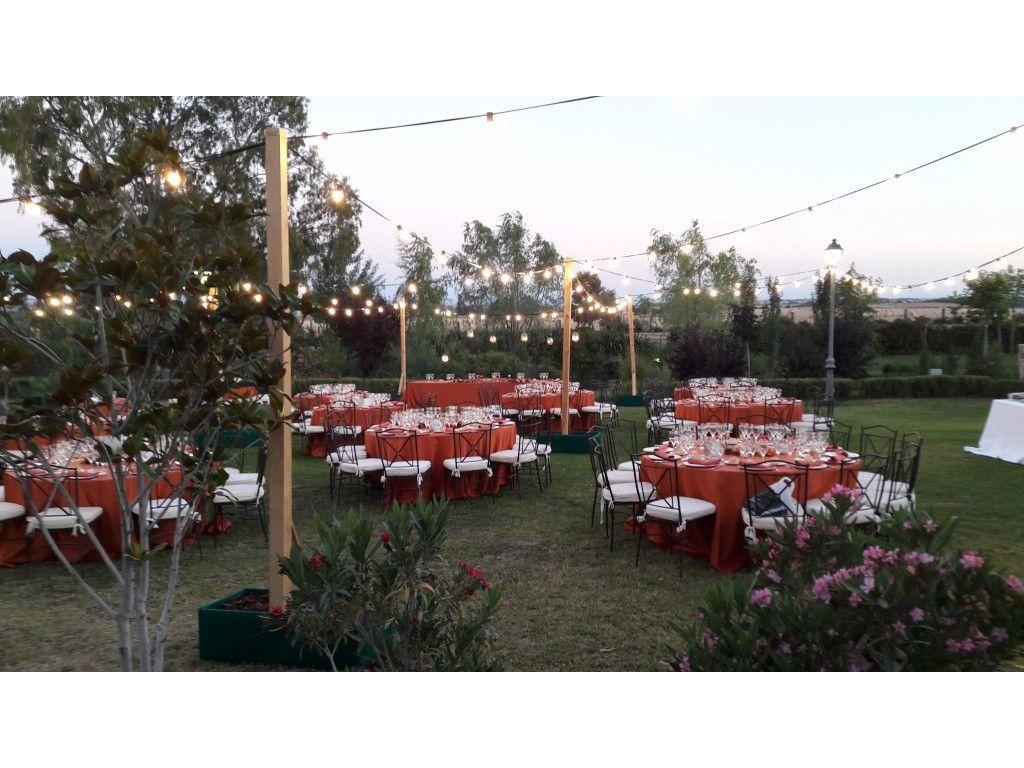 Cena Mantel Jardín Exterior