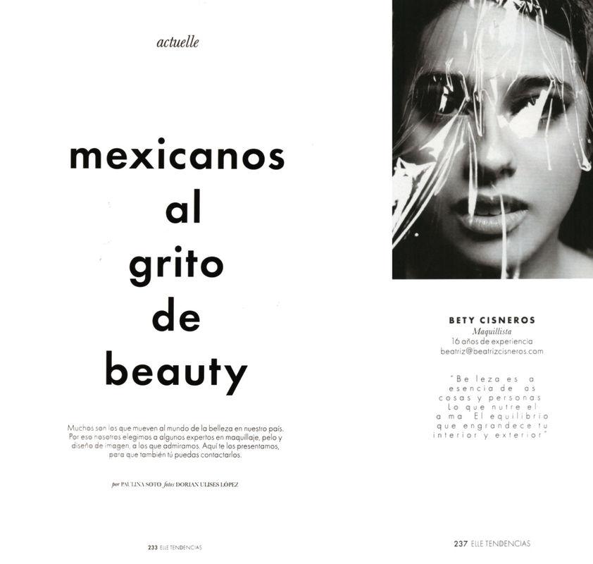 Articulo revsita ELLE   |. Maquillista Beatriz Cisneros