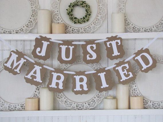 Cartel Recién Casados para decorar