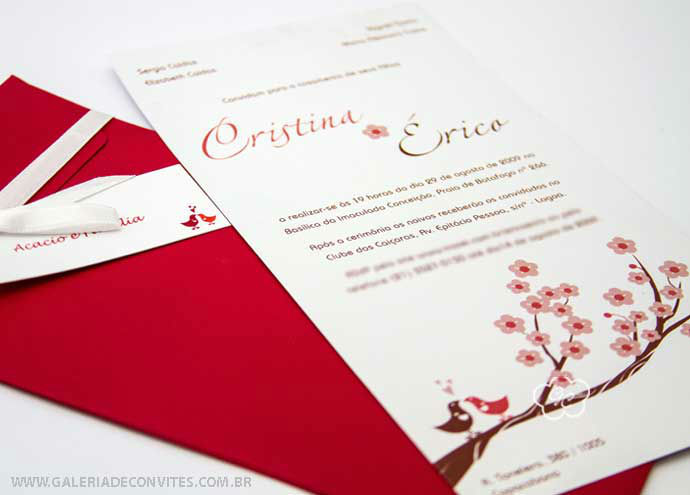 convite de casamento modelo 21