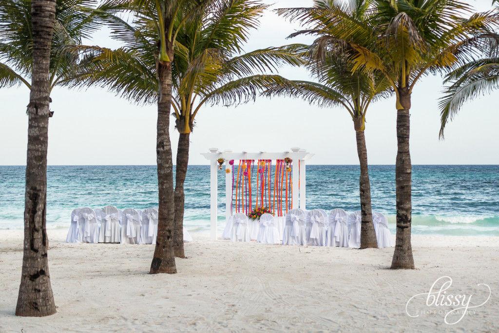 Montaje de ceremonia. Riviera Maya
