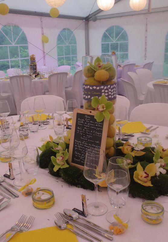 Décoration de table citronnée