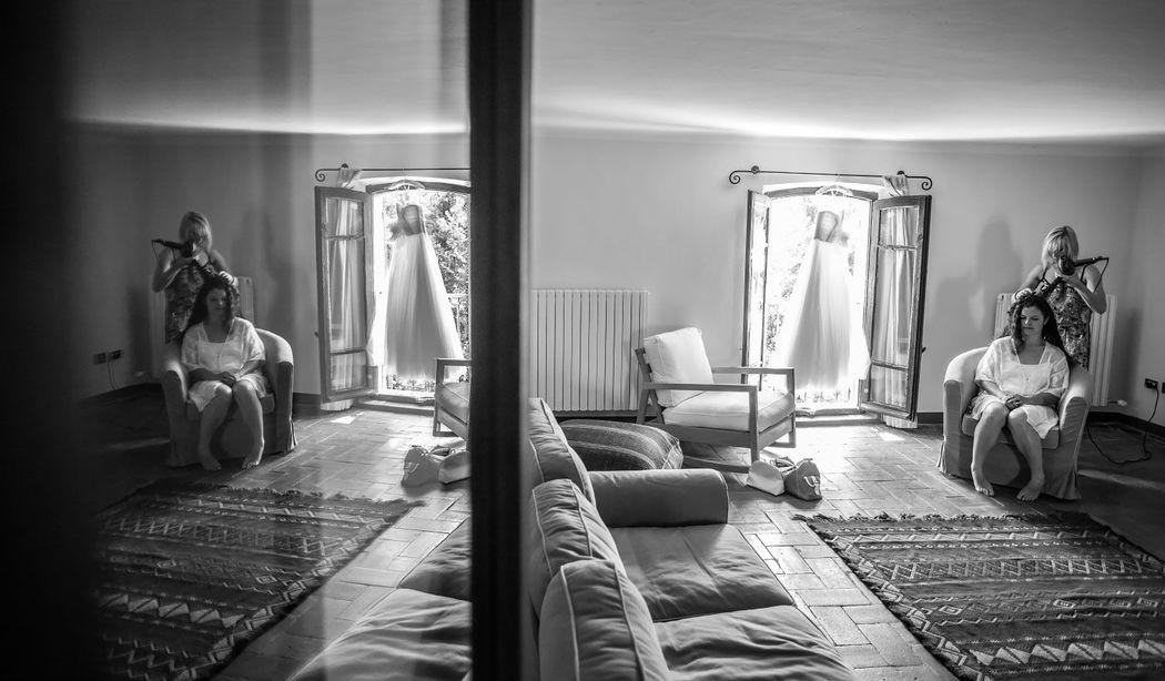 Preparative per Matrimonio a Antico Borgo di Tabbiano Castello, Parma
