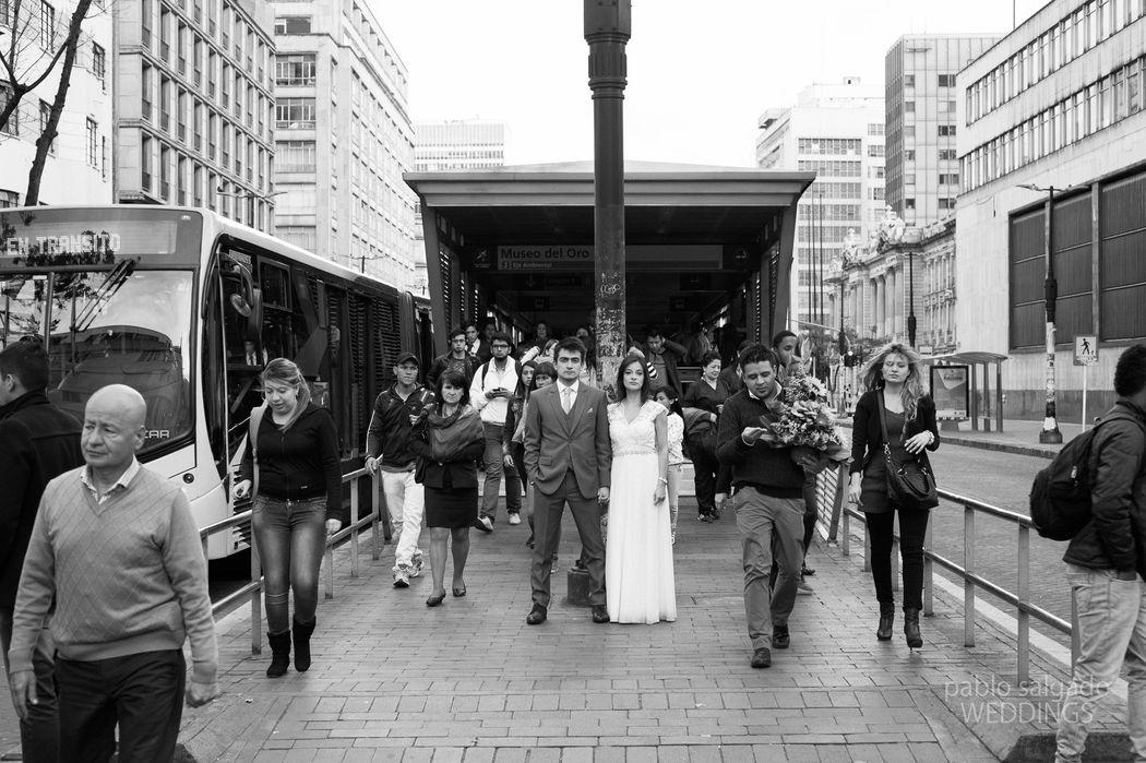 Foto en el Centro de Bogotá