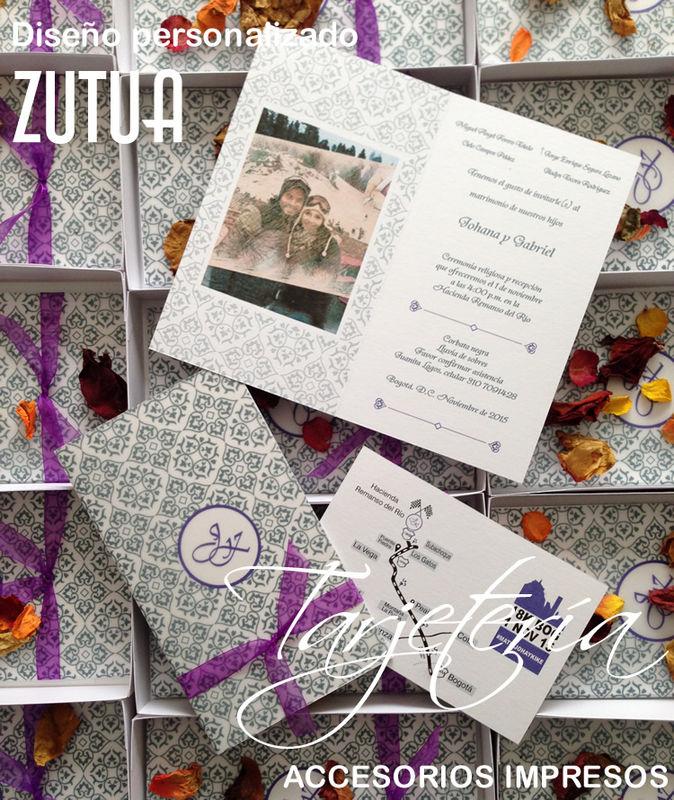 Caja elaborada en papel extrafino con diseño impresos personalizado