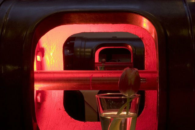 Beispiel: Innenraum, Foto: Alte Pumpe.