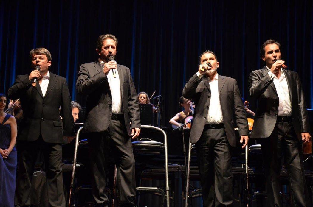 os 4 tenores do Coro Génesis em concerto