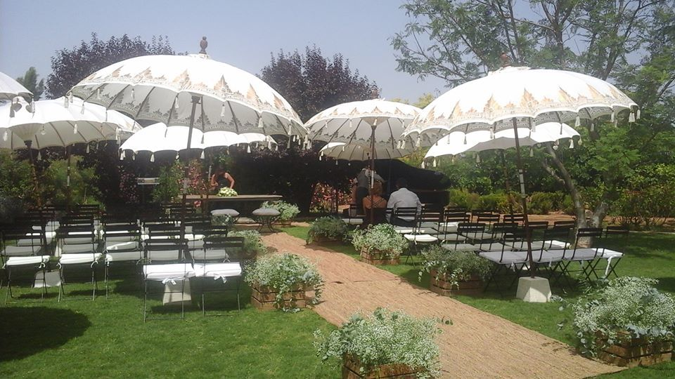 ceremonia civil en jardín