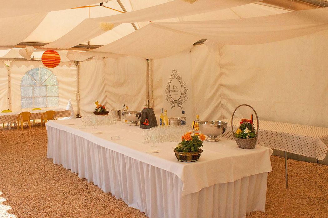 Tente de réception Brunch, cocktail mariage (MAI 2016)