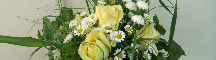 Beispiel: Brautsträuße, Foto: Blumen Stieber.