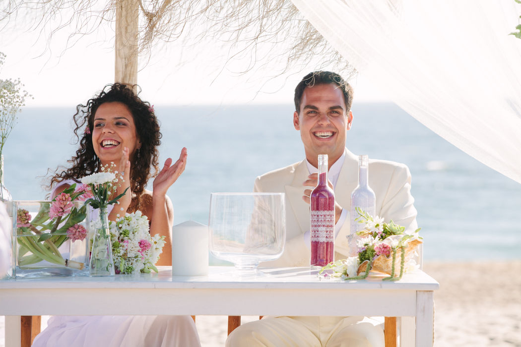 Casamento da Marta e do André na praia.