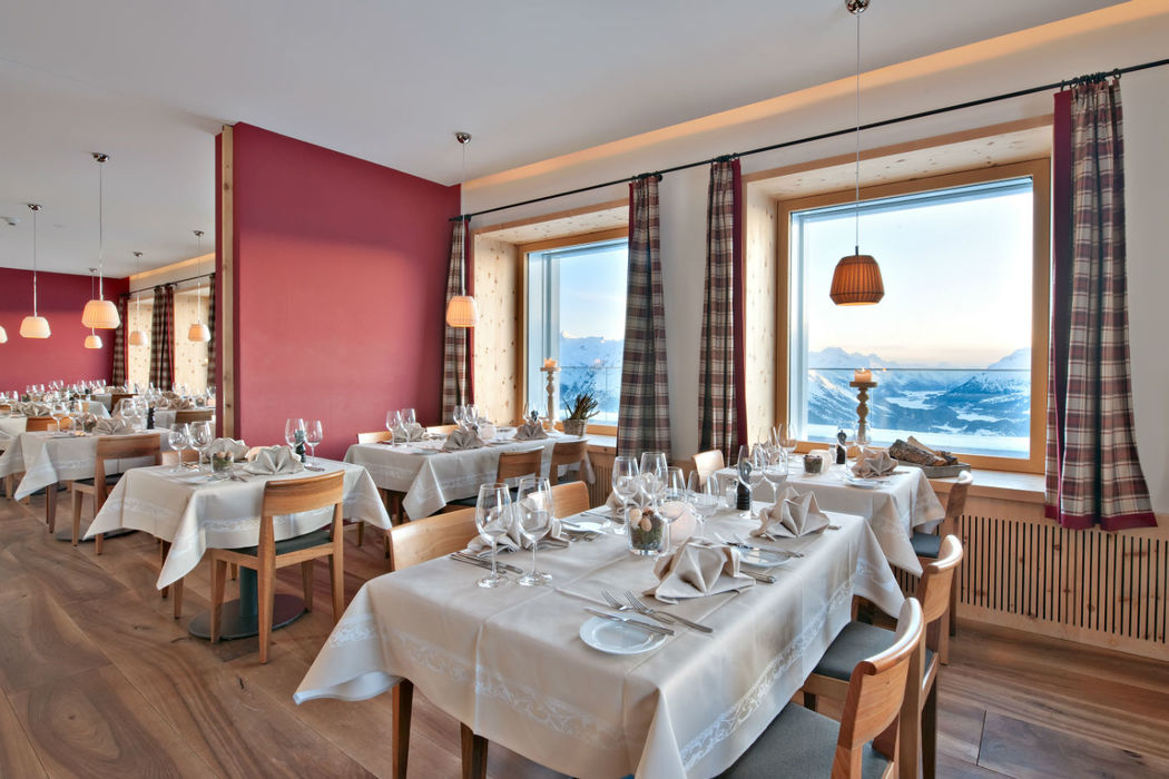 Mountain Dining in unserem Panoramarestaurant