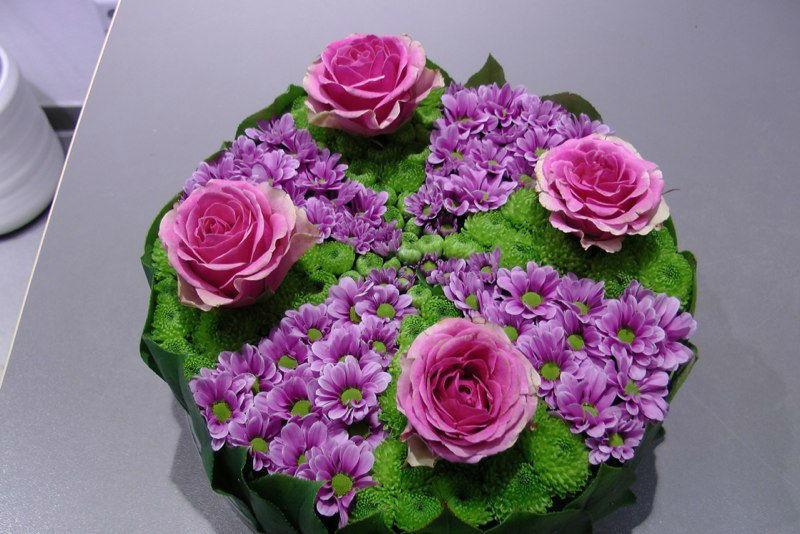 Beispiel: Blumentorte, Foto: Blumen-Boutique-Wingen.