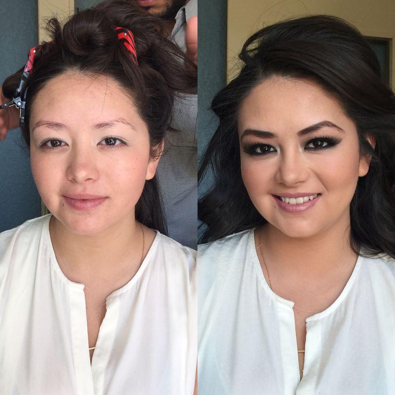 Sandra Bada Bride Squad (antes y después)