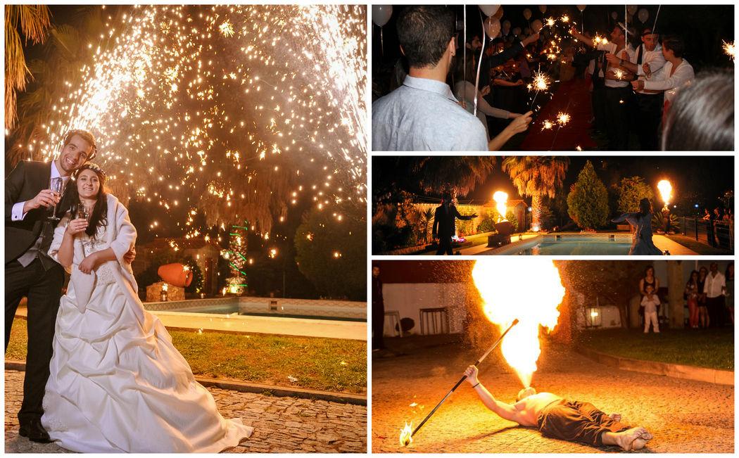 Espetáculos de Fogo, Fogo de Artificio e Sparkels