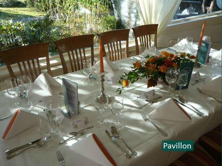 Beispiel: Festlich gedeckter Tisch, Foto: Hotel Rheinsberg am See.