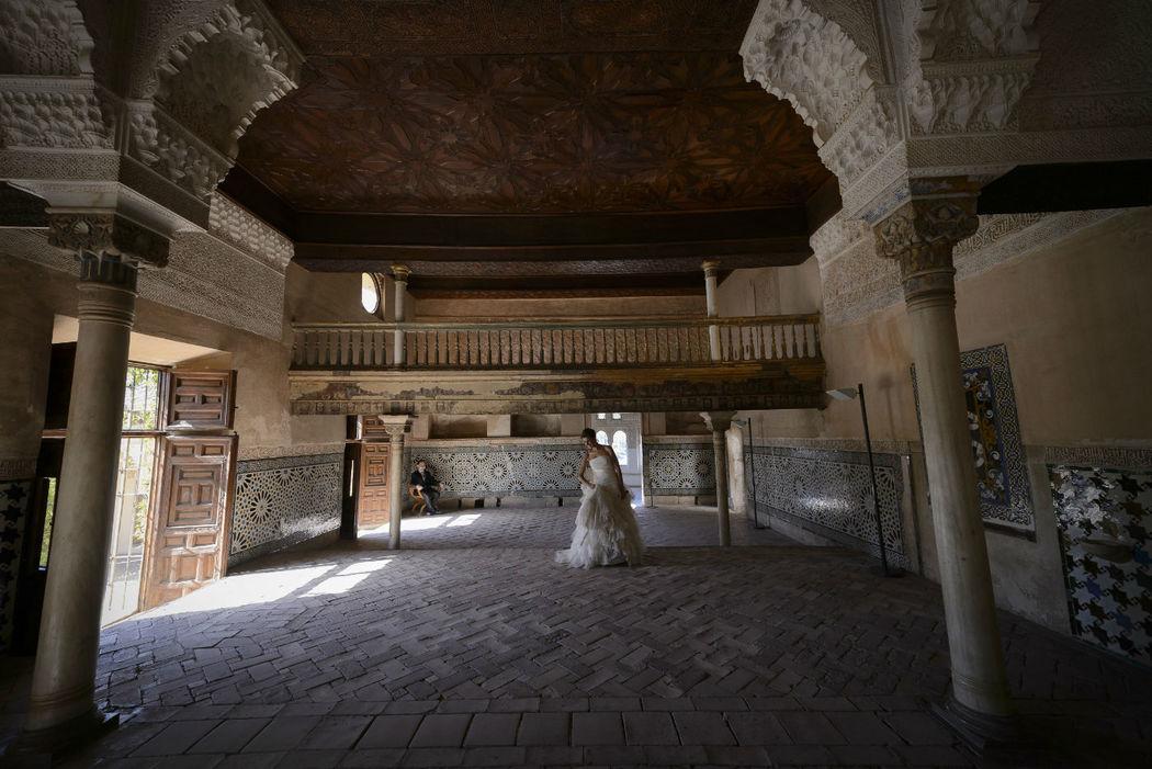 fotógrafo post-boda en la Alhambra