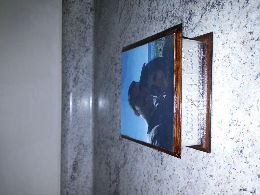 Caja 10x10 cms. decoupage