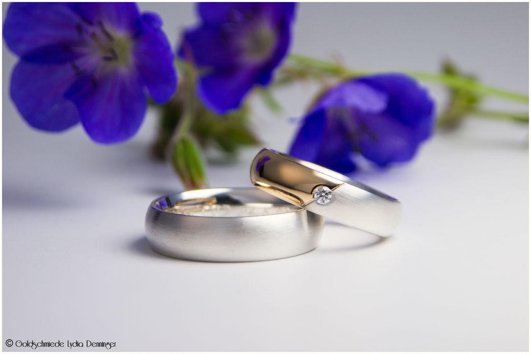 Roségold mit 925 Silber und Brillant