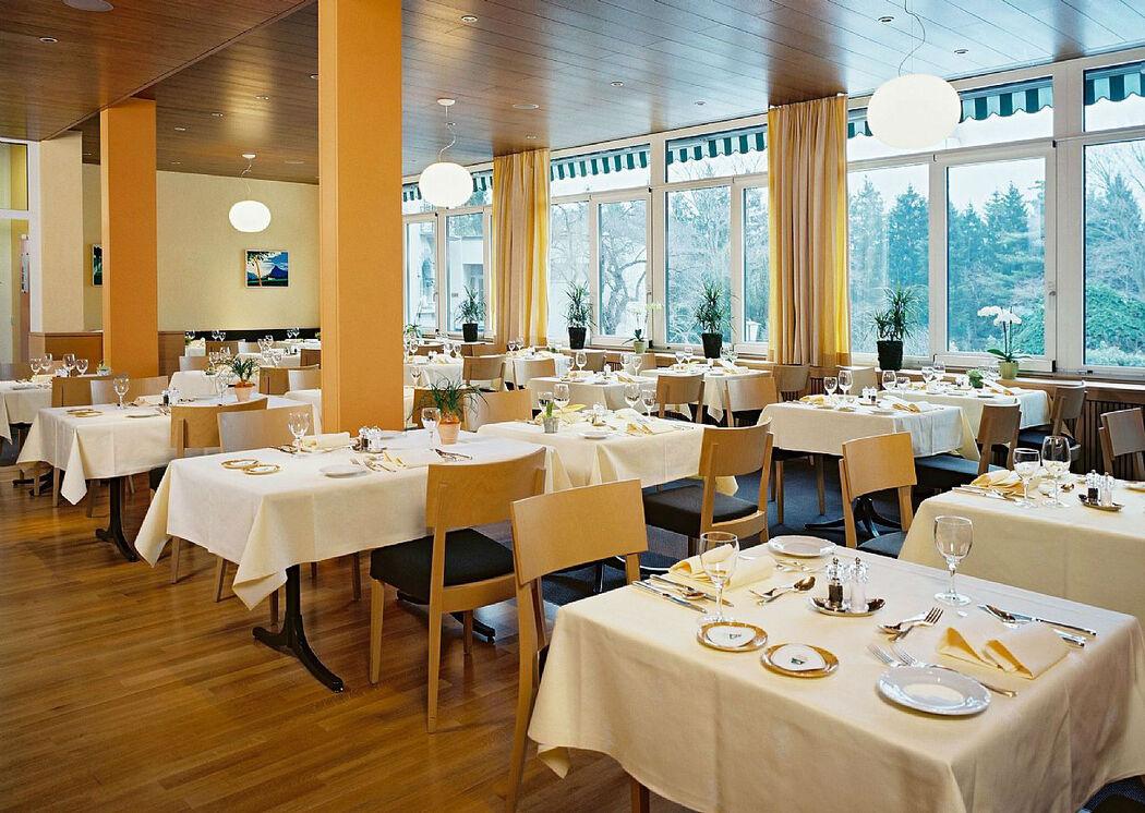 Beispiel: Restaurantanbau, Foto: Hotel Schloss Ragaz.