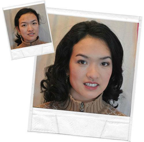 Beispiel: Make-up / vorher-nachher, Foto: Personal Makeup Artist.