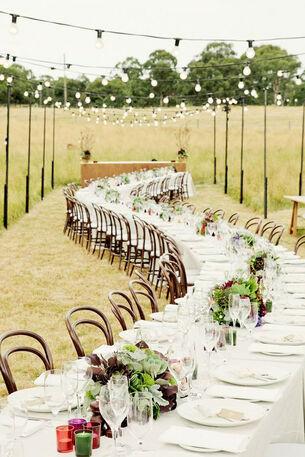 repas mariage champêtre