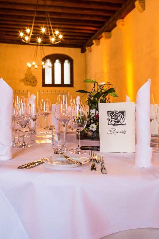 Beispiel: Tischanordnung, Foto: Rosenpalais Catering.