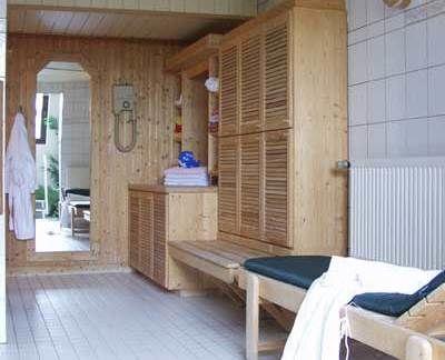 Beispiel: Blockhaussauna, Foto: AKZENT Aggertalhotel Zur alten Linde.