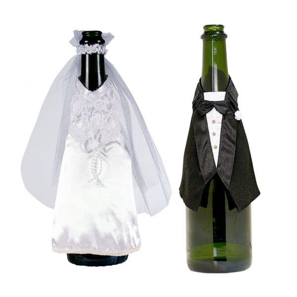Beispiel: Flaschenanzüge - Braut / Bräutigam, Foto: Feiermeier Nürnberg.