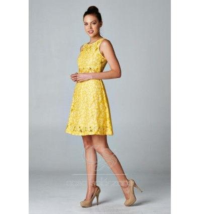 Vestido corto amarillo